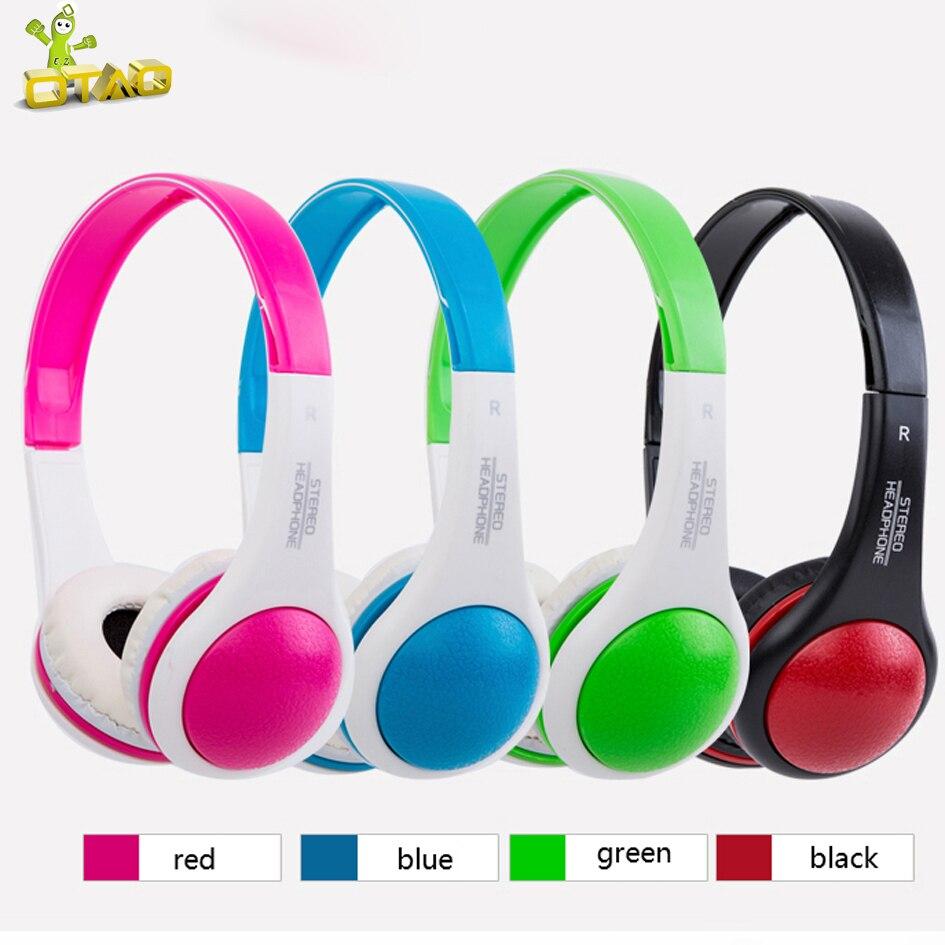 OTAO Weird Children Headphones Colorful 3.5mm Line Type Stereo Sport Earphones For Smartphone Kid Headset For MP4 odd weird