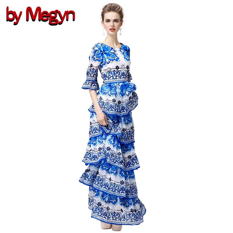 av Megyn Women Runway Klänning Flare-Sleeve Kinesisk Traditionell - Damkläder