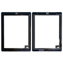 Сменный дигитайзер сенсорного экрана 20 шт./лот для iPad 2, дигитайзер, сенсорный экран на клейкой основе A1395 A1396 A1397