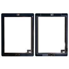 20pcs/lot Touch Screen  Replacement Digitizer For iPad 2 Digitizer Touch Screen with adhesive A1395 A1396 A1397