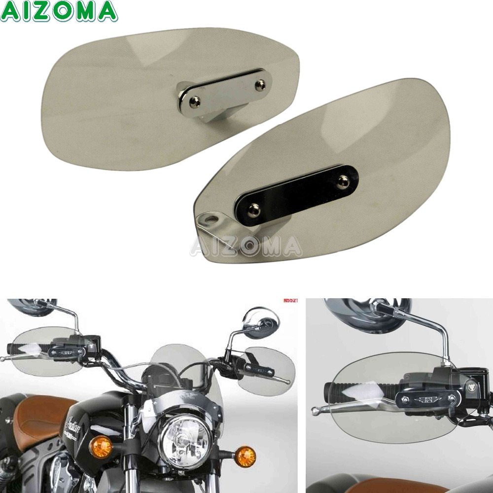Smoke Handguards Hand Protector Shield Motorcycles Windproof Hand Deflector 8/10mm For Harley GZ150 XV1900 Vulcan 1900 Criusers