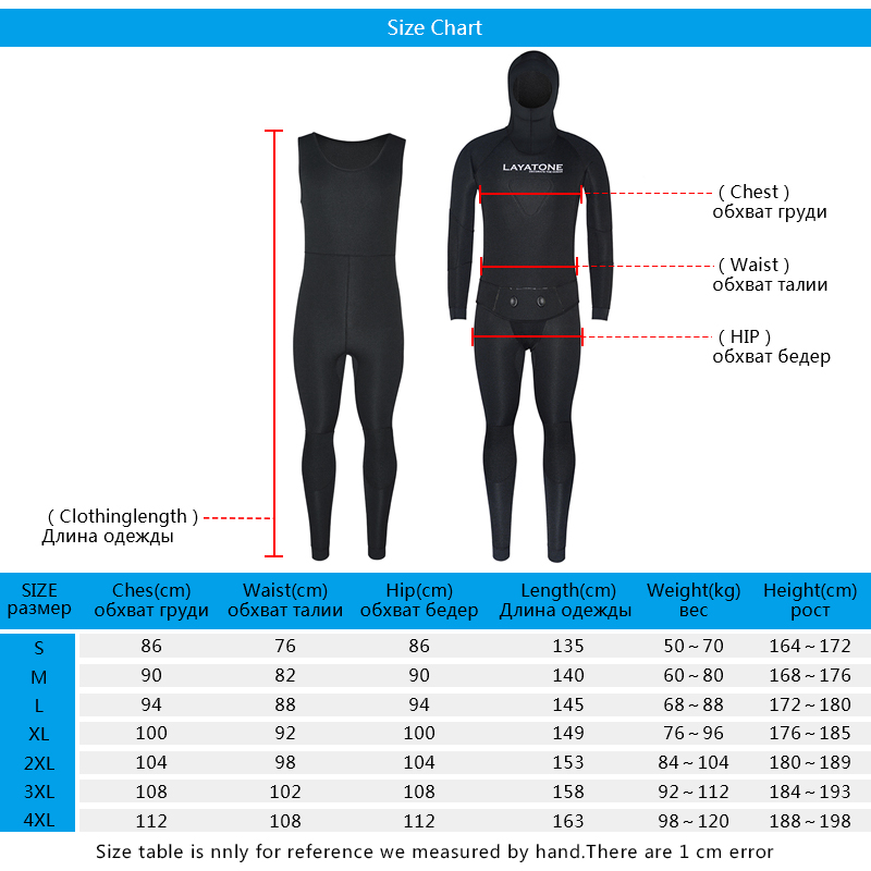 WS-200 spearfishing wetsuit