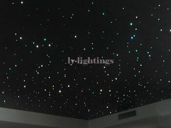 DIY optic fiber light kit RGB led light box +200pcsx0.75mmx3m optical fibre color change star ceiling light pack IR remote