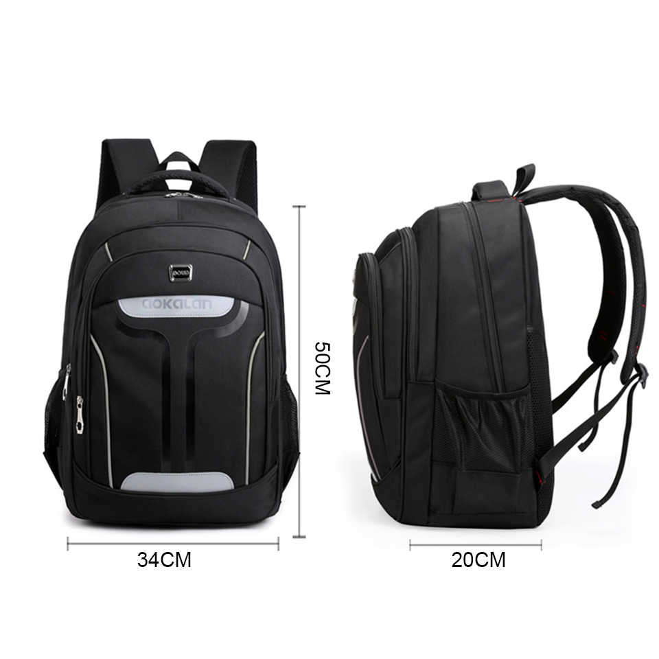 17 بوصة كمبيوتر محمول كلية حقيبة المدرسة للفتيات الصبي حقيبة الرجال النساء 15.6 دفتر أسود الظهر الذكور رجل BagPack أكياس عودة حزمة