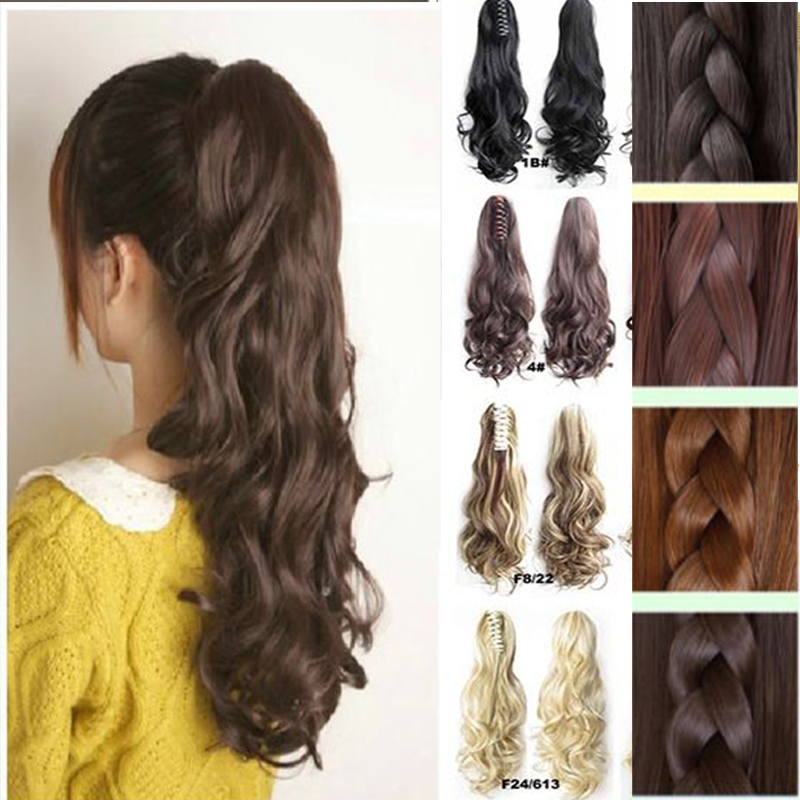 New style lady thick hair wavy curly ponytail claw on clip in hair new style lady thick hair wavy curly ponytail claw on clip in hair extension pony tail tightly high quality as real hair pieces on aliexpress alibaba pmusecretfo Image collections
