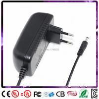Free shipping 1pcs 10v 2000ma adapter 2a EU input 100 240v ac 50/60hz 5.5x2.1mm 0.9m DC cable Power Supply transformer