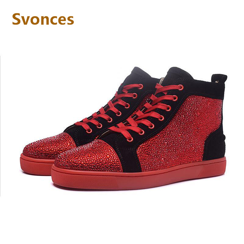 purchase cheap 3b3b5 e9a34 top 10 most popular red bottoms crystal mens near me and get ...