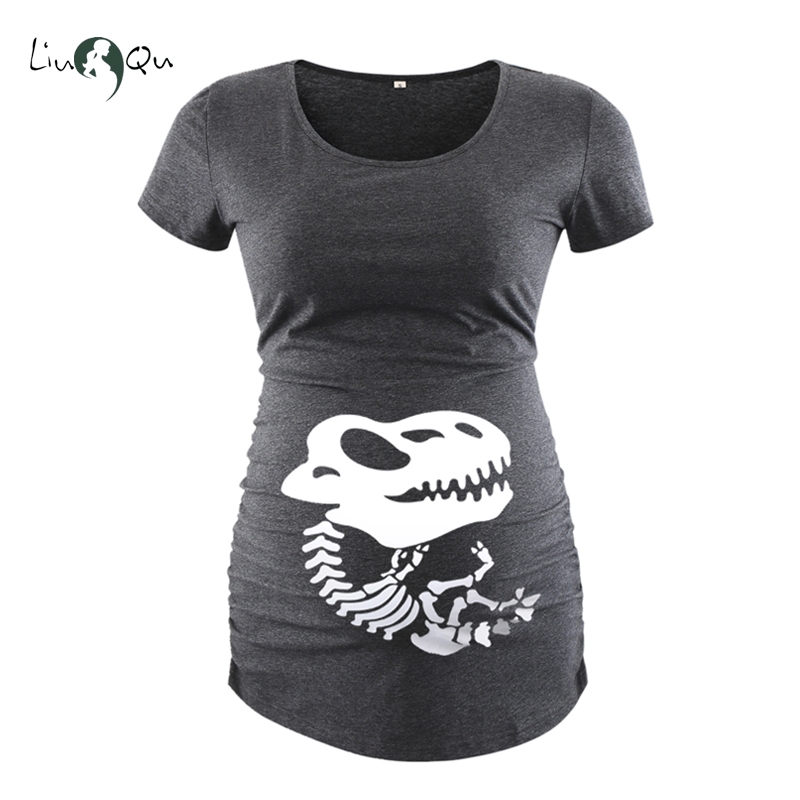 1b0d795e0 Aliexpress.com : Buy Funny pregnancy shirts print skeleton maternity tops  for pregnant women long sleeve soft cotton t shirts plus size tees wholsale  from ...