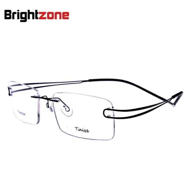 Rimless Eyeglasses 2017 : 2017 New Fashion Men Rimless Glasses Memory Titanium ...