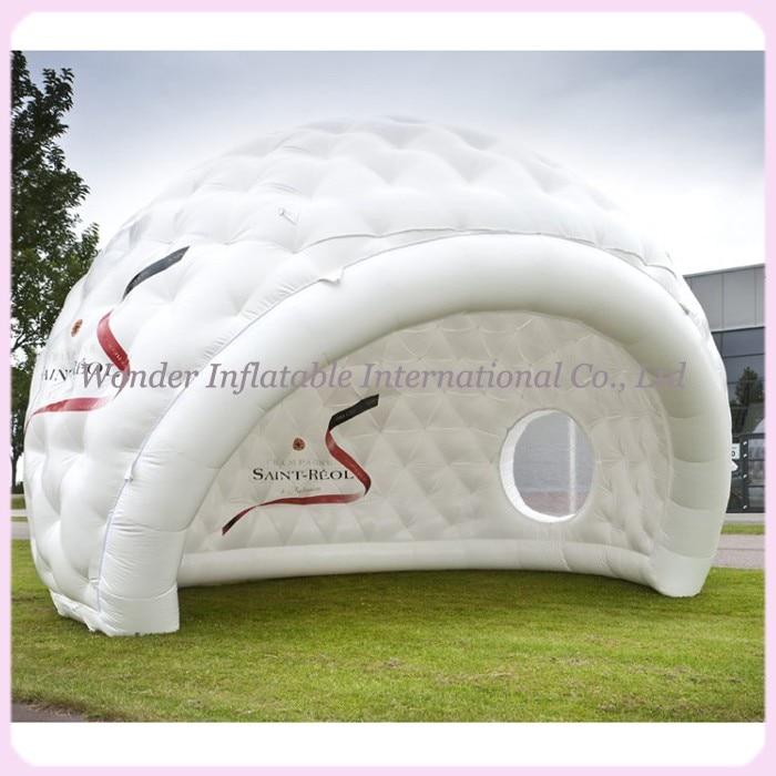 2016 врућа продаја бијели шатор за напухавање шатор на отвореном напухавање купола шатор прилагођен голф са јасним прозорима за догађаје