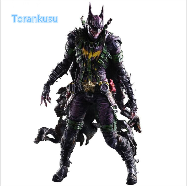 Batman Action Figure Playarts Kai Gogues Gallery Joker PVC Model Toy Anime Movie Play Arts Kai Bat Man Bruce Wayne Figure PA08 kingdom hearts play arts kai roxas sora pvc action figure toy 26cm movie game anime kingdom hearts ii playarts kai
