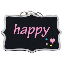 12 шт./лот пеньковая веревка висячая прямоугольная меловая доска мини Мел Материал для письма доски для заметок (Цвет: Черный)