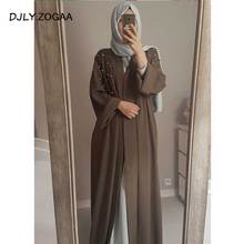 Open Abaya In Dubai Kimono Beads Islamic Skirts Long Dresses For Muslim Women Coat Caftan Robe Turkish Islam