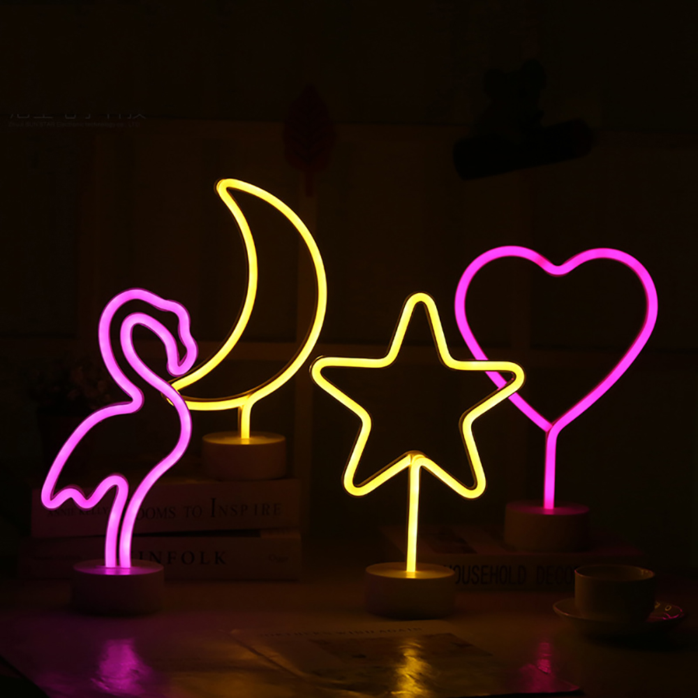 Dropshipping Cute Night Light Rainbow Neon Sign LED Rainbow Light for Home Decoration Neon Lamps for Girls Bedroom Cactus lamp in Night Lights from Lights Lighting