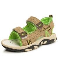 2016 Summer Boys Girls Leather Sandals Children Leather Shoes Sandals Kids Sandalias Male Female Footwear