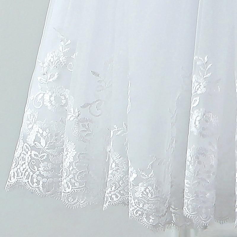 JIERUIZE vestidos de novia Mežģīņu aplikācijas Pērles īsās - Kāzu kleitas - Foto 6