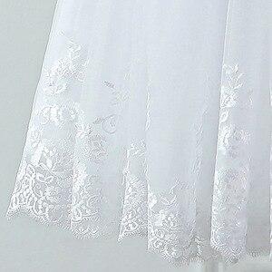 Image 5 - Jieruize vestidos de noiva, vestidos de noiva de renda com apliques de pérolas, curtos, lace up, baratos, de mariee