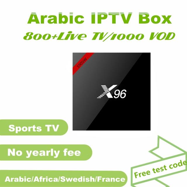 Durée de vie gratuite arabe IPTV box, 800 + arabe afrique français suédois chaînes et films VOD, toujours libre IPTV Europe arabe
