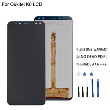 Original For Oukitel K6  LCD Display+Touch Screen Digitizer For Oukitel K6  Display Screen LCD Assembly Phone Parts Free Tools display for oukitel power 5 power5 lcd display touch screen digitizer assembly replacement accessories