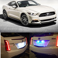 2pcs Bright Led License Number Plate Light for ford mustang gt accessories 2015 up License Plate Light
