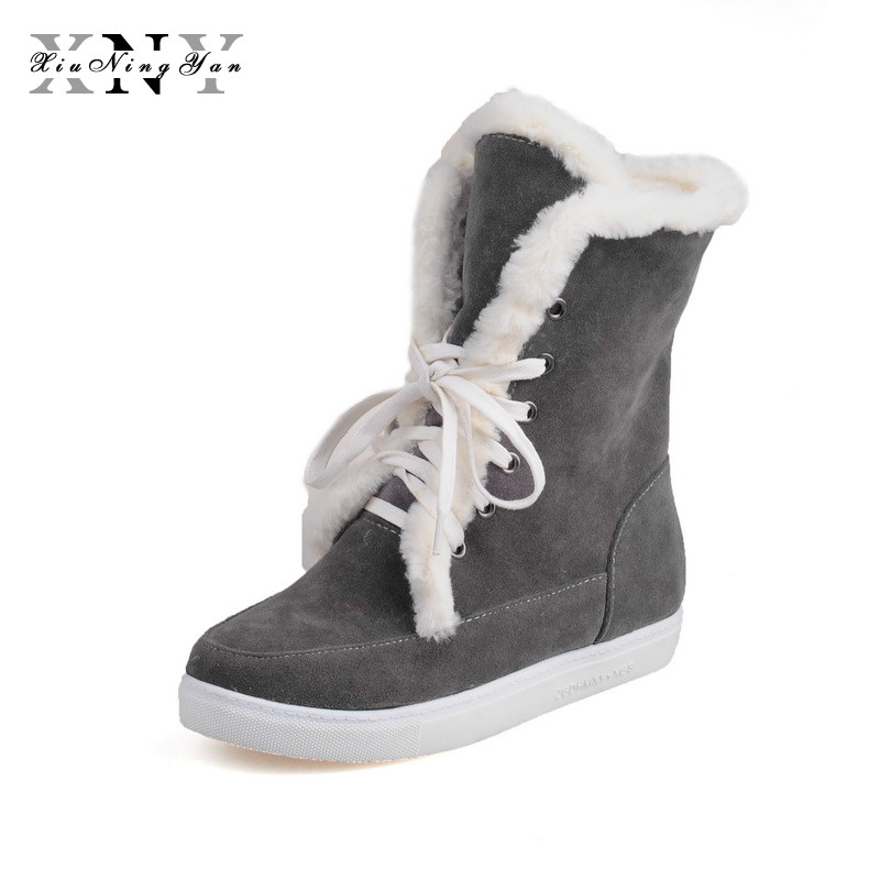 Women Snow Boots 2018 Winter Autumn Boots Women Warm Fur Ankle Boots for Lady Warm Winter Shoes Botas Mujer Feminina -30 degree e toy word boots women fashion autumn martin boots warm women shoes ankle boots for women winter botas mujer wedges ankle boots