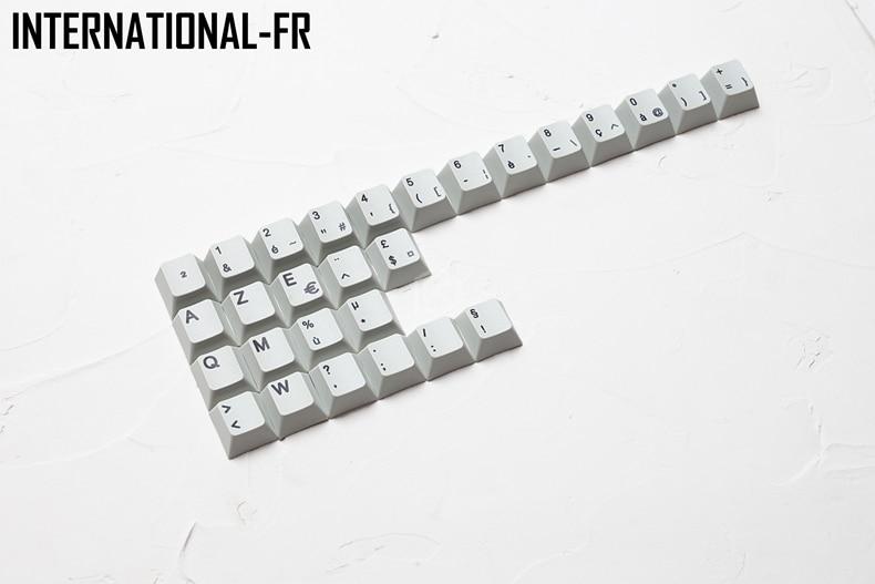 Image 5 - kprepublic international norde EU UK ES FI FR NO IT PT DE HU vowel letter Cherry profile Dye Sub Keycap thick PBT for keyboardKeyboards   - AliExpress