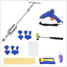 9 pcs Paintless Dent Repair Tools Kit - Grip PRO Slide Hammer Dent Removal Pulling Tabs Car Dent Repair Tools for Vehicle