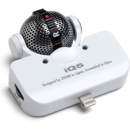 Zoom Mid Side Condenser Mic For Ios Iq5 White Browse
