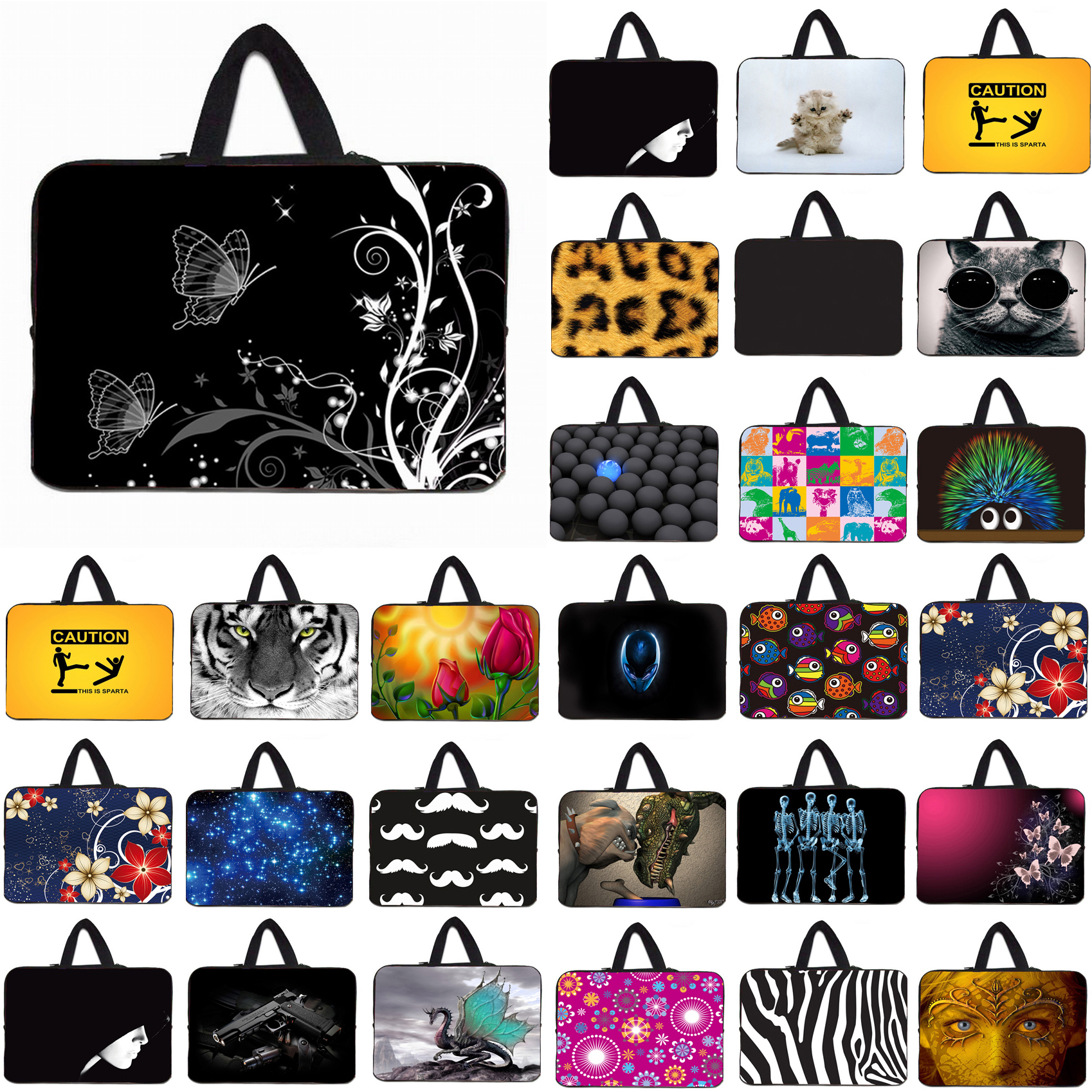 Nylon Protective Slim Bags For Women 10 12 Tablet 10.1 Netbook Inner Bags Cases Cover 13 13.3 14 15 16 17 Laptop Notebook Bags