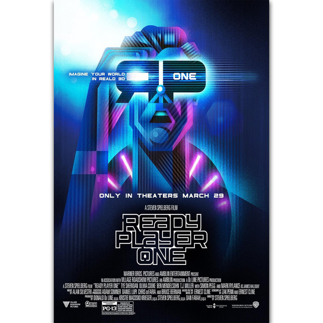 MQ3577 Ready Player One Hot New 2018 Movie Film Game Art Poster