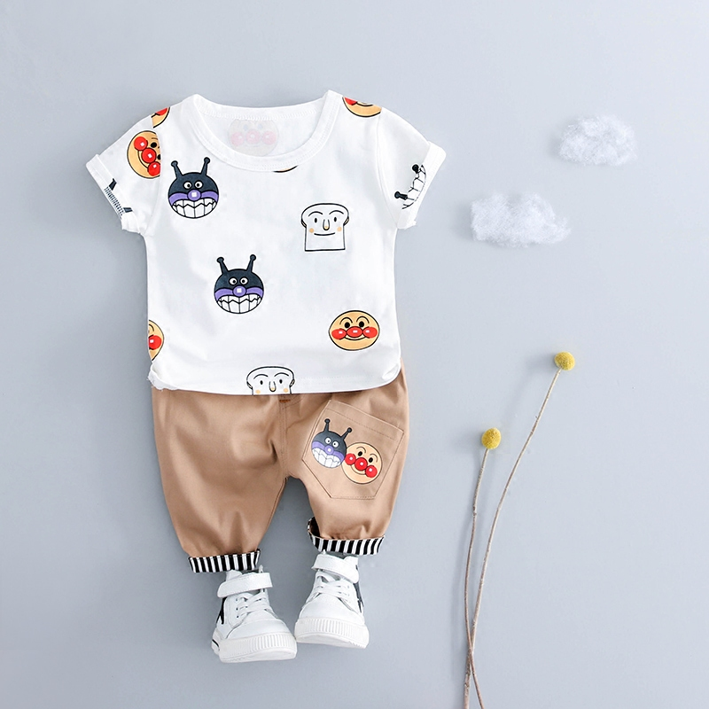 Cute Snails Baby Boys Clothes Set Summer 2018 New Baby Boy Clothing Sets Casual Sport Suits Cotton Kids Children Boys Clothes spring kid boys girls print sweater with hat children casual clothing 2016 children s sets summer kids baby boy clothes 2987