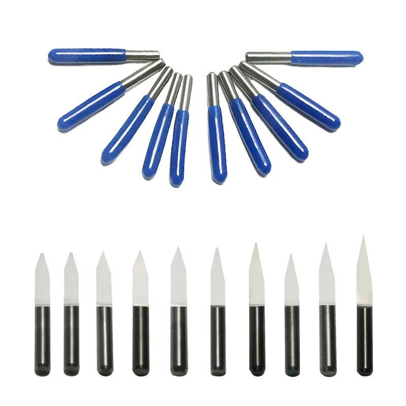 Купить с кэшбэком 3.175mm drill bits Tungsten Steel V Shape Carbide PCB Engraving