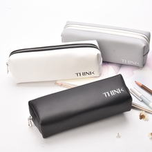 ФОТО pen box pouch bag bags school canvas  pencil case vintage stationery printing large south korea cute cheap art stationery brand