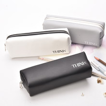 Pen Box Pouch Bag Bags School Canvas Pencil Case Vintage Stationery Printing Large South Korea Cute Cheap Art Stationery Brand(China)