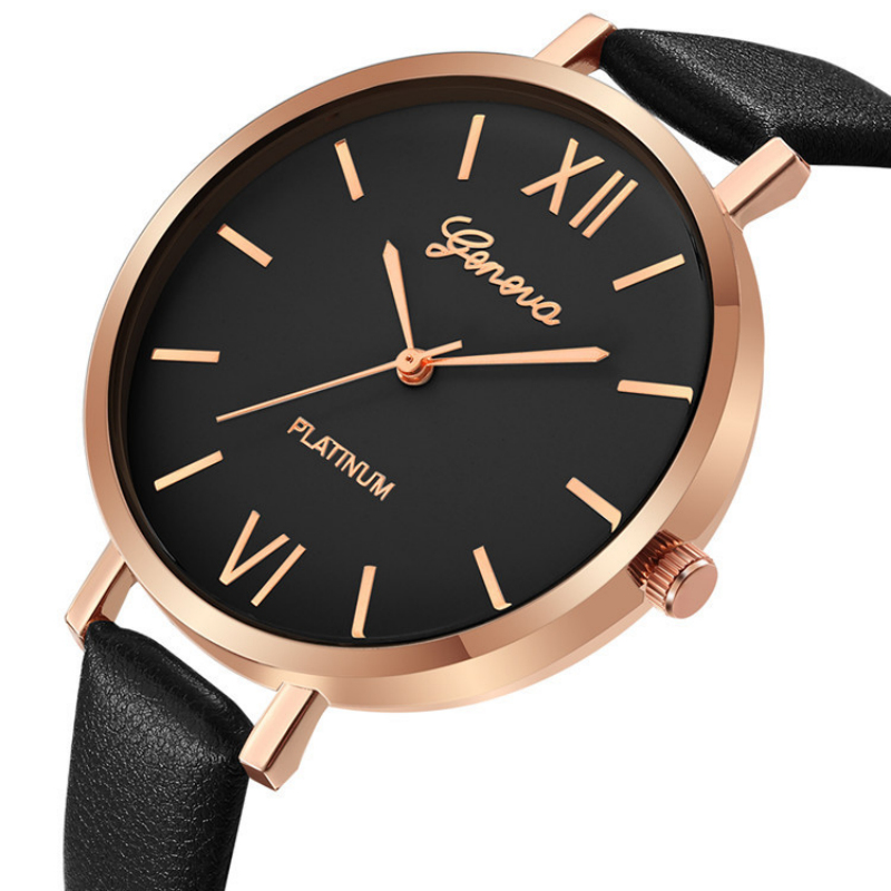 Geneva Watch Women Small Leather Strap Bracelet Analog Quartz Watch 2018 Luxury Brand Casual Watches Ladies Clock Montre Femme skmei women watches leather strap quartz woman wristwatches top brand luxury ladies watch small dial 2018 new style montre femme