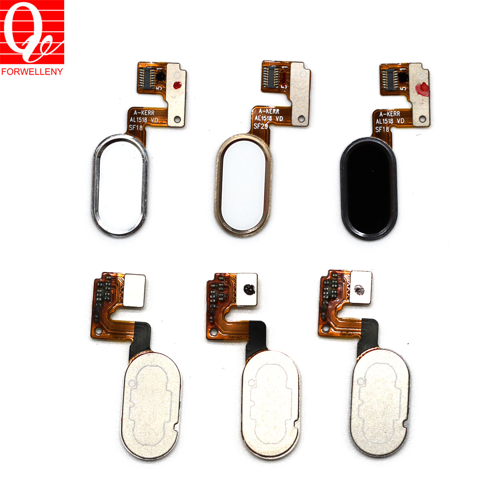 For Meizu m3 note L681h 14pins black white gold fingerprint key home button flex cable and 10pins m681h/m681q/m681c