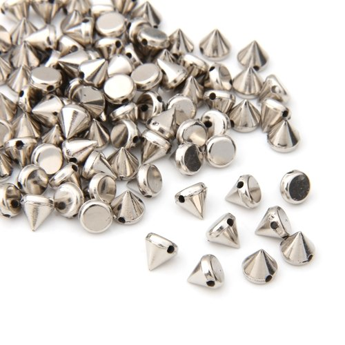 Promotion! 100X ABS plastic Rivets Spikes Silver for Bag Clothing