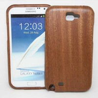 High Quality For Samsung Galaxy Note2 Case Pattern Pattern Wood Phone CaseWooden Hard Shell Cove0r For