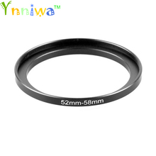 52 58mm Metal Step Up Rings Lens Adapter Filter Set