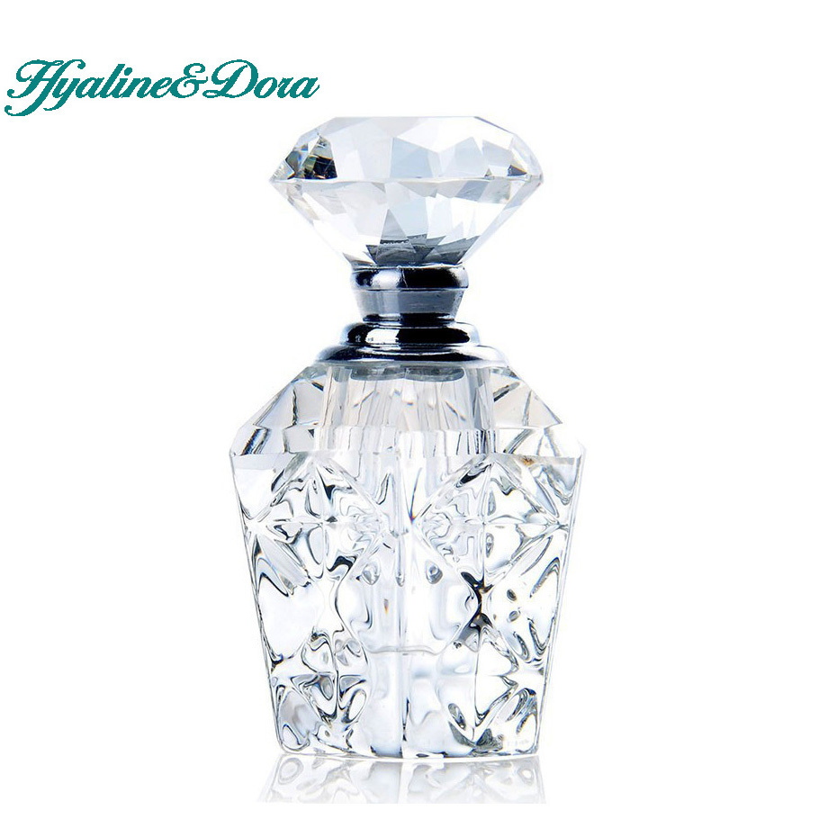4ml unique empty clear carved crystal travel women perfume for Unique glass bottles