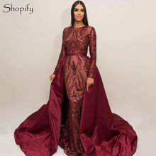 shopify Evening Dresses 2019 Mermaid Long Sleeve