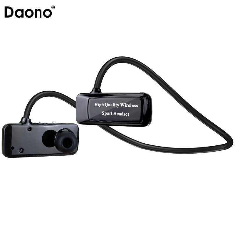 Daono F5 Mini Bluetooth 4.1 Headset Sport Wireless Headphones Music Stereo Earphones+Micro SD Card Slot+FM Radio+MP3 Player stylish neckband headphones mp3 player headset w fm tf card slot blue black