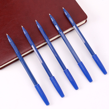15PCS Simple Ballpoint Pens Blue Plastic 0.7mm Refill Student Writing Supplies School Office Stationery