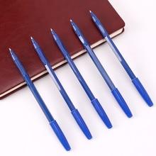 15PCS Simple Ballpoint Pens Blue Plastic Ballpoint Pens 0.7mm Blue Refill Student Writing Supplies School Office Stationery