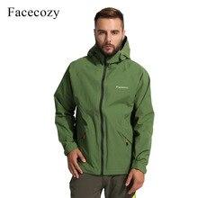 Facecozy Men Autumn Waterproof Hiking Jackets Windproof Thin