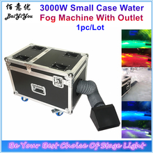 1pc/Lot Free Shipping Small Case 3000W Water Base Fog Machine Water Mist Low Fog Smoke Machine With Hose And Outlet