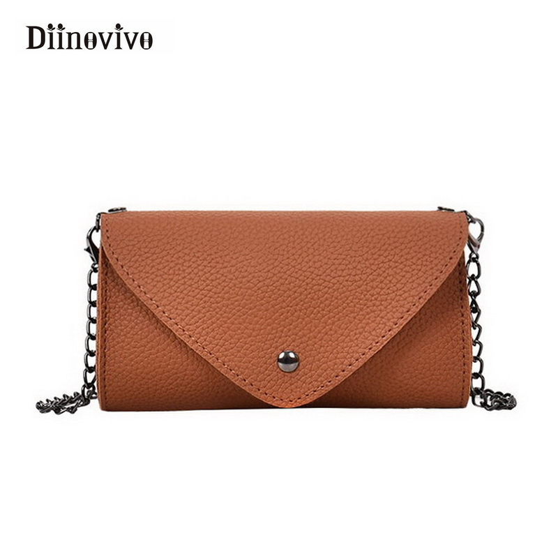 DIINOVIVO Waist Bags Women Designer Chains Fanny Pack Fashion Belt Bag Female Mini Pack PU Leather Messenger Bolsa New WHDV0008