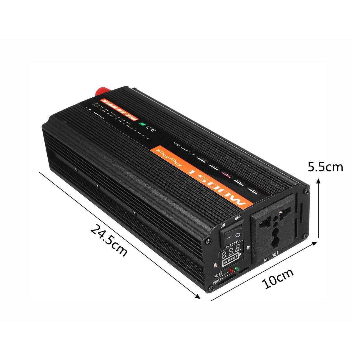 1500W Pure Sine Wave Inverter DC12V/24V/48V To AC220V 50HZ Power Converter Booster For Car Inverter Household DIY 21