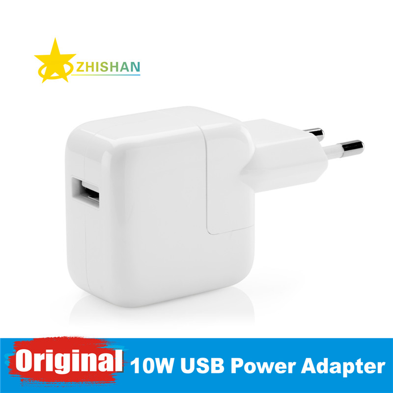 bilder für Echte original 10 watt usb power adapter ac wand reise-ladegerät für iphone 5 s 6 6 s 7 plus ipad 3 4 5 mini air ipod für eu stecker