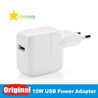 Genuine original 10 w usb power adapter ac carregador de parede de viagem para o iphone 5s 6 6 s 7 plus ipad 3 4 5 mini air ipod para a ue plugue